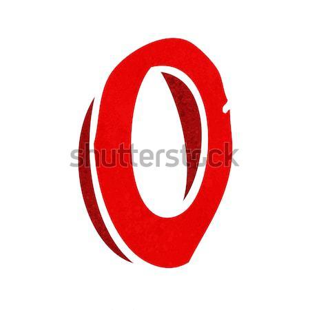Rajz o betű kéz terv felirat levél Stock fotó © lineartestpilot
