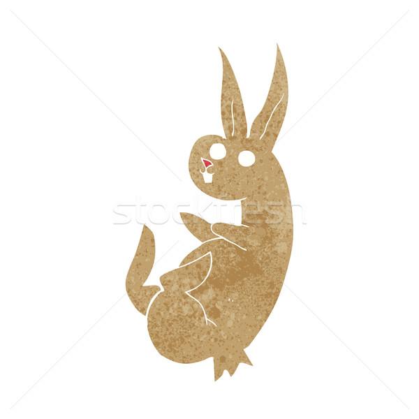 cue cartoon rabbit Stock photo © lineartestpilot