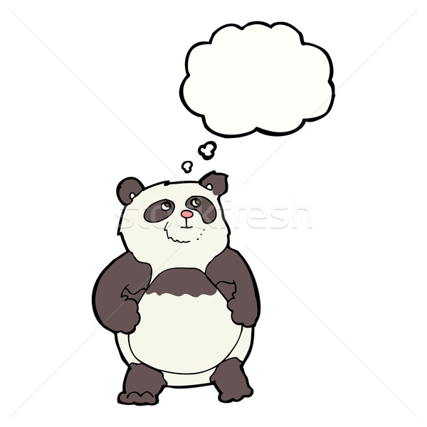 cartoon panda with thought bubble Stock photo © lineartestpilot