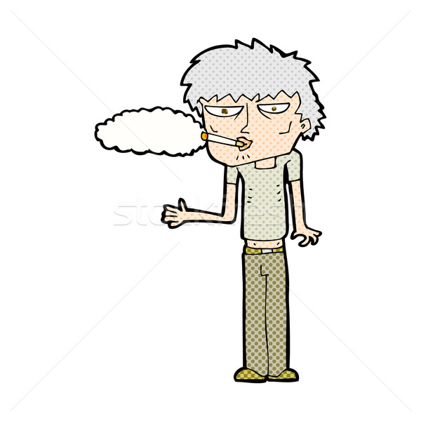 comic cartoon smoker Stock photo © lineartestpilot