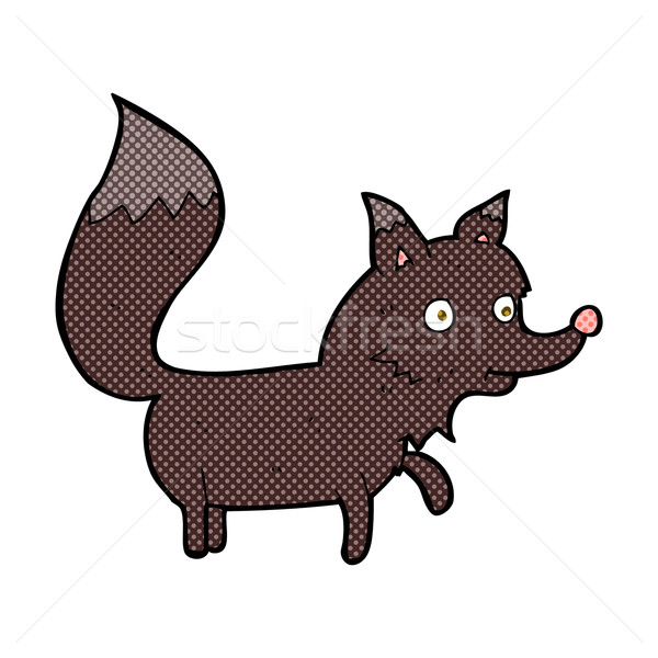 コミック 漫画 オオカミ カブ レトロな ストックフォト © lineartestpilot