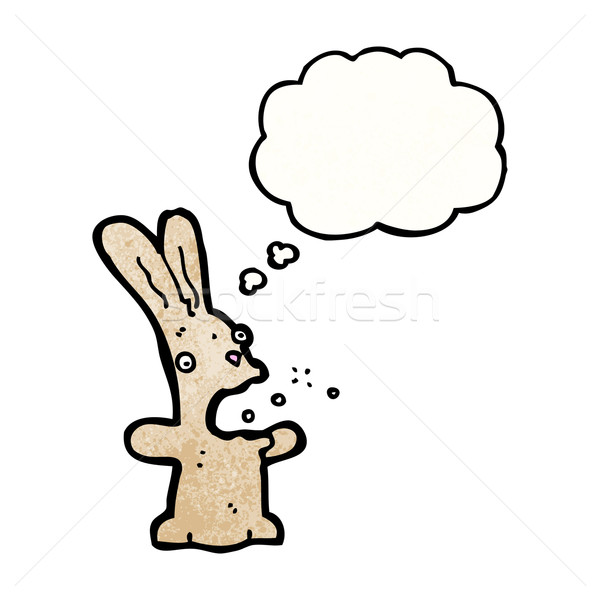 burping rabbit cartoon Stock photo © lineartestpilot
