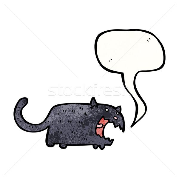 黒猫 漫画 テクスチャ 手 幸せ ストックフォト © lineartestpilot