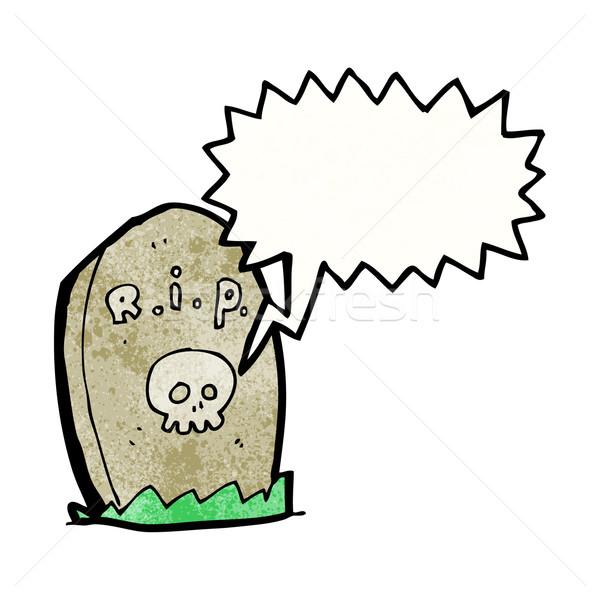Hablar graves retro dibujo Cartoon Foto stock © lineartestpilot