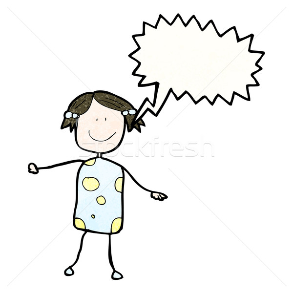 child's drawing of a happy girl Stock photo © lineartestpilot