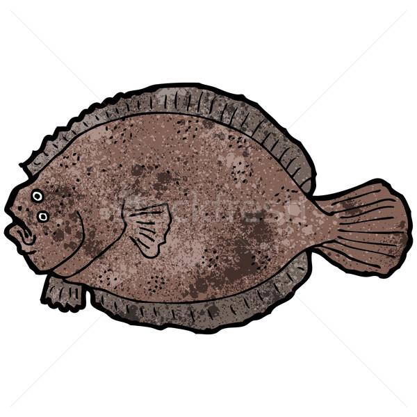 Stock photo: flat fish illustration