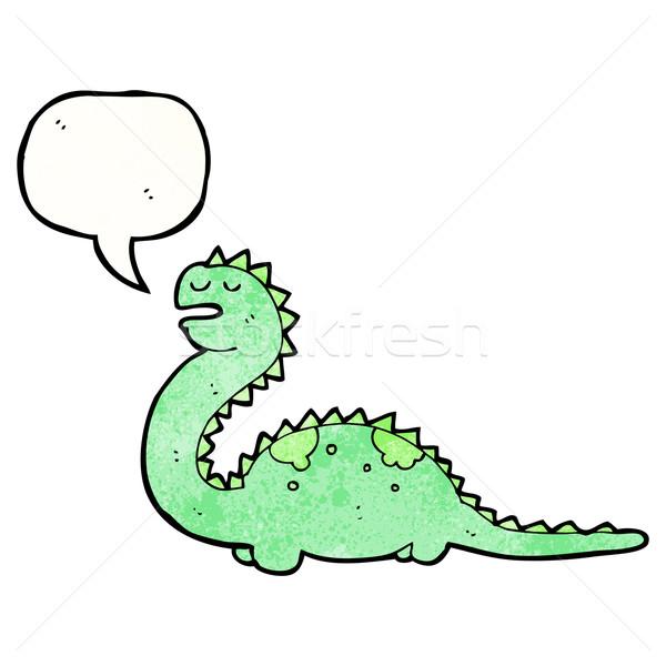 漫画 優しい 恐竜 レトロな テクスチャ 孤立した ストックフォト © lineartestpilot