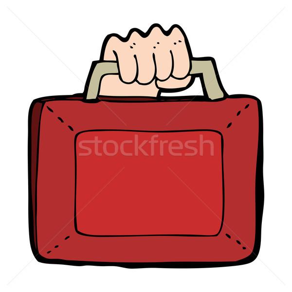 Cartoon budget ontwerp kunst teken retro Stockfoto © lineartestpilot