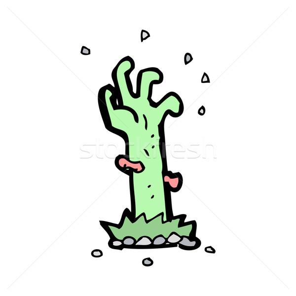 Cartoon zombie grave main design Photo stock © lineartestpilot