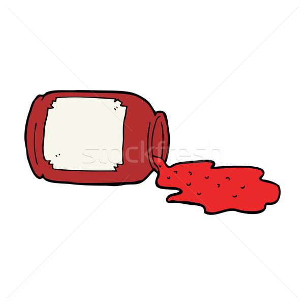 cartoon spilled jam Stock photo © lineartestpilot