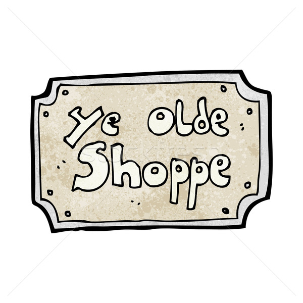 cartoon old fake shop sign Stock photo © lineartestpilot