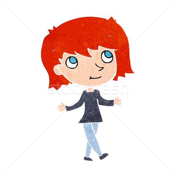 cartoon girl with no worries Stock photo © lineartestpilot