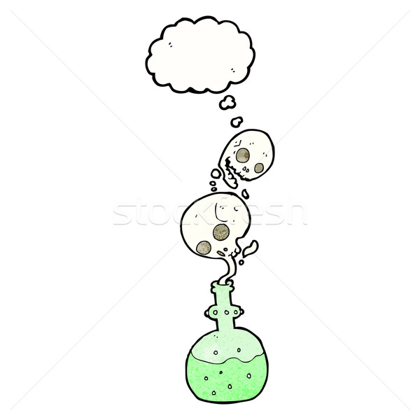 cartoon potion with thought bubble Stock photo © lineartestpilot