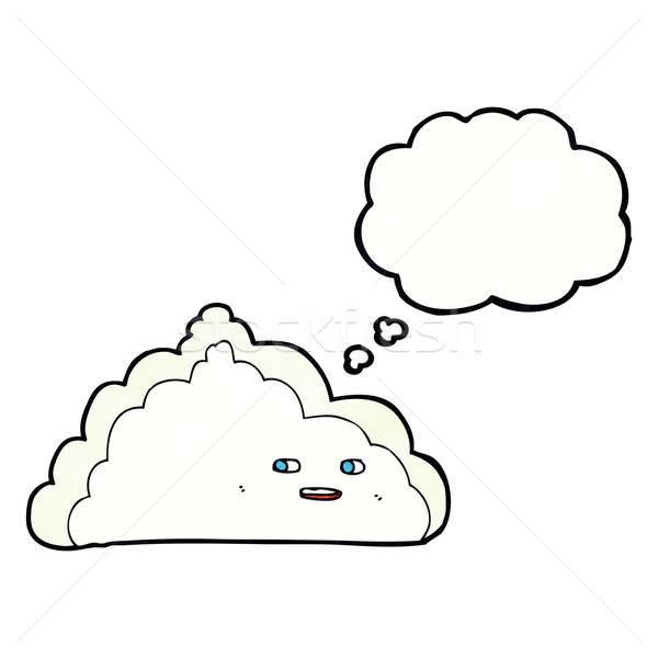 Desenho animado nuvem balão de pensamento mão projeto arte Foto stock © lineartestpilot