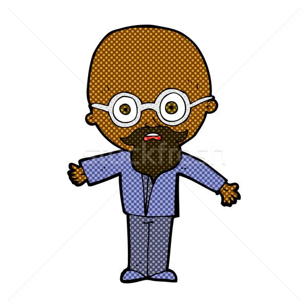 Cômico desenho animado gênio cientista retro Foto stock © lineartestpilot
