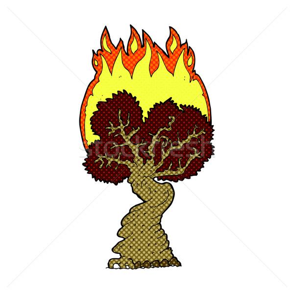 comic cartoon burning tree Stock photo © lineartestpilot
