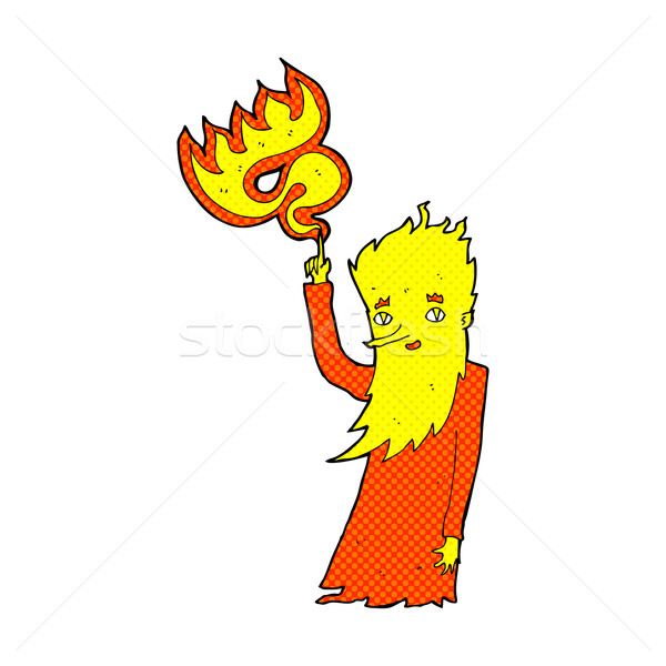 comic cartoon fire spirit Stock photo © lineartestpilot