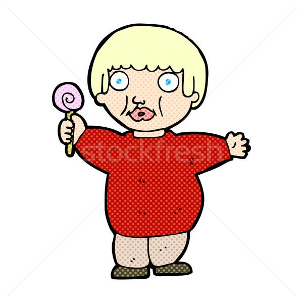 comic cartoon fat child Stock photo © lineartestpilot