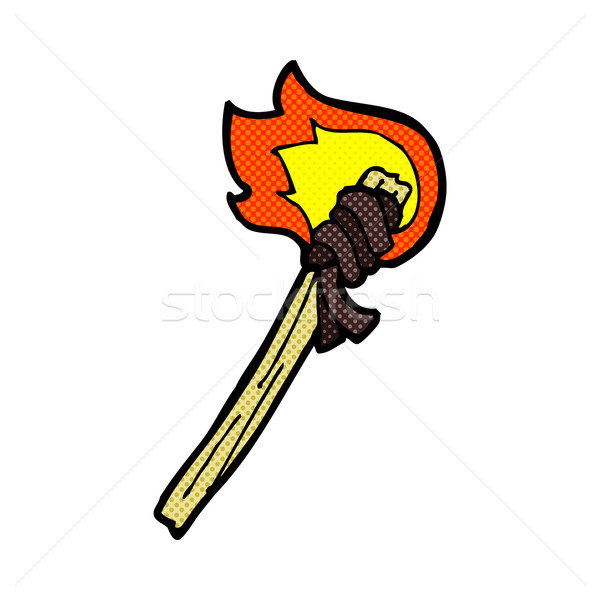 comic cartoon burning torch Stock photo © lineartestpilot