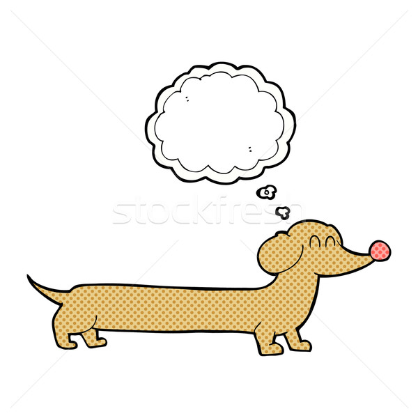 cartoon dachshund with thought bubble Stock photo © lineartestpilot