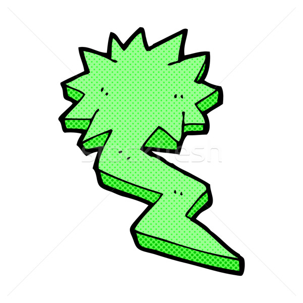 comic cartoon lightning bolt symbol Stock photo © lineartestpilot