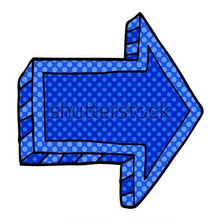 Komiks cartoon negatywne krzyż symbol retro Zdjęcia stock © lineartestpilot