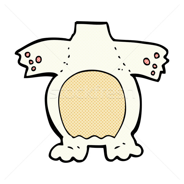 comic cartoon polar bear body (mix and match comic cartoons or a Stock photo © lineartestpilot