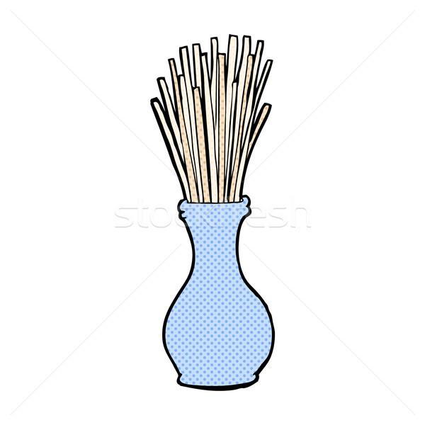 comic cartoon reeds in vase Stock photo © lineartestpilot