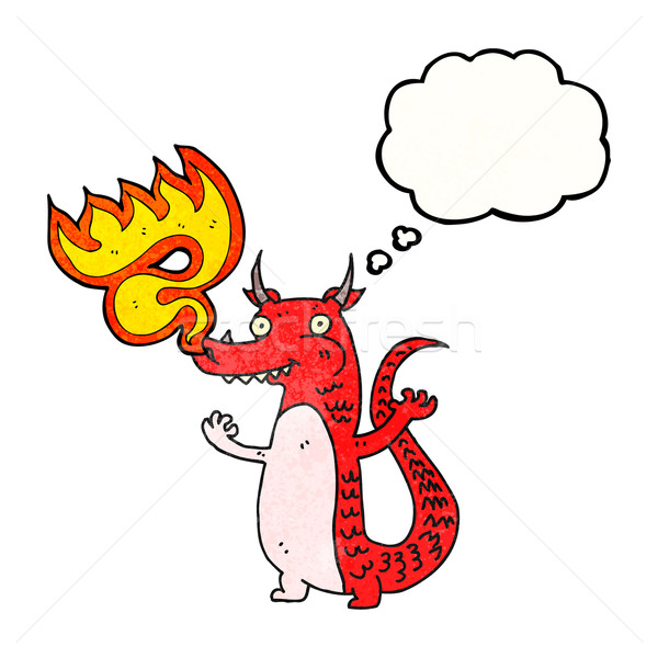 cartoon fire breathing dragon Stock photo © lineartestpilot