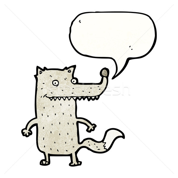 wolf with speech bubble Stock photo © lineartestpilot