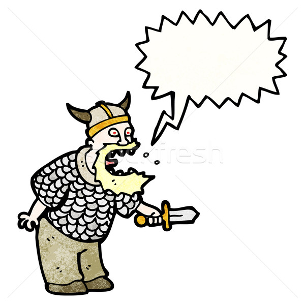 shouting viking cartoon Stock photo © lineartestpilot