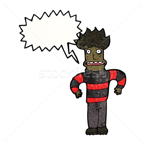 Karikatur sehr Mann Retro Zeichnung Angst Stock foto © lineartestpilot