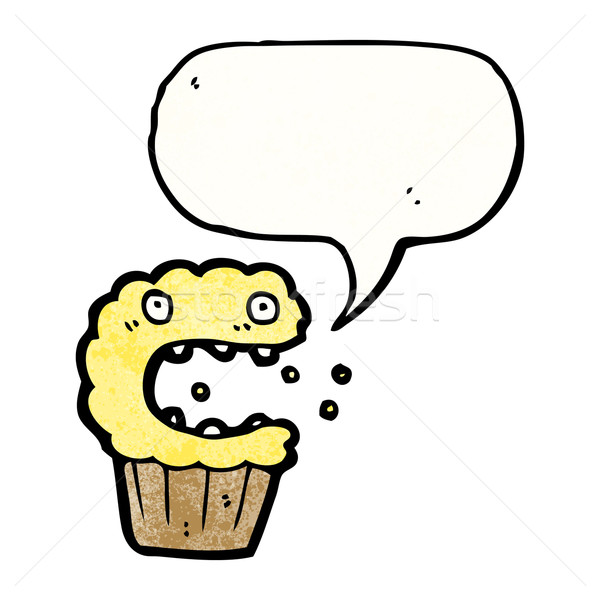 cartoon frightened muffin Stock photo © lineartestpilot