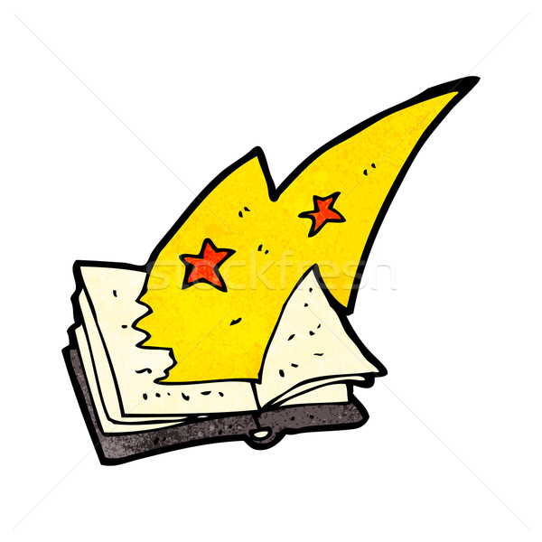cartoon magic spell book Stock photo © lineartestpilot