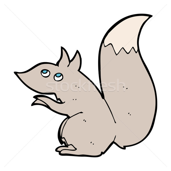 Rajz mókus kéz terv őrült gemkapocs Stock fotó © lineartestpilot