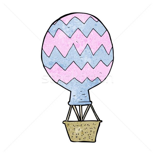 Stockfoto: Cartoon · luchtballon · ontwerp · kunst · retro · grappig
