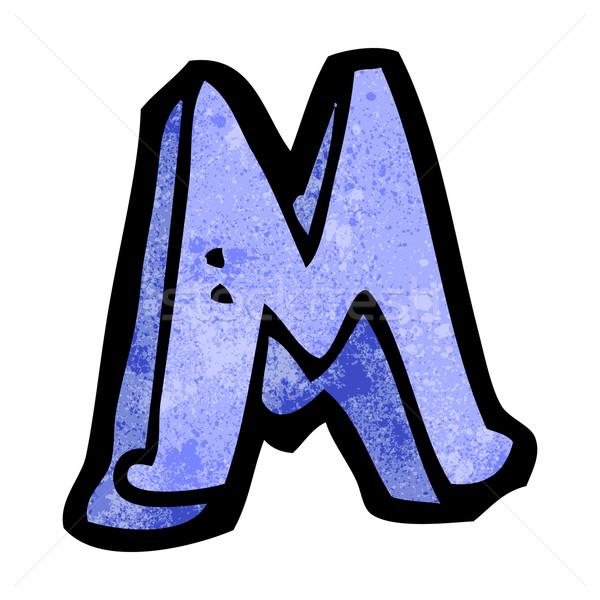 Karikatur Buchstaben m Hand Design Zeichen Schreiben Stock foto © lineartestpilot