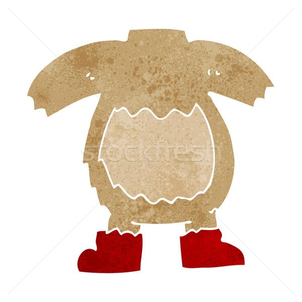 Karikatür oyuncak ayı vücut maç kendi Stok fotoğraf © lineartestpilot