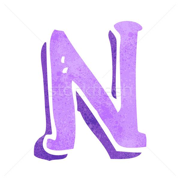cartoon letter N Stock photo © lineartestpilot