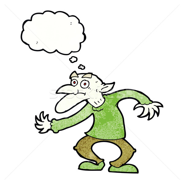 cartoon goblin with thought bubble Stock photo © lineartestpilot