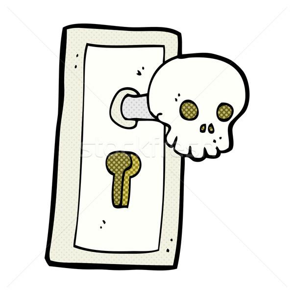 comic cartoon spooky door knob Stock photo © lineartestpilot