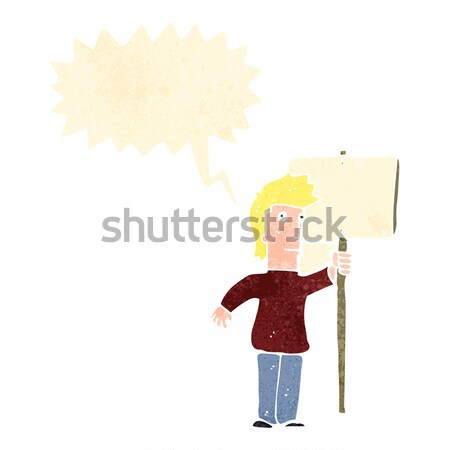 cartoon lumberjack with thought bubble Stock photo © lineartestpilot