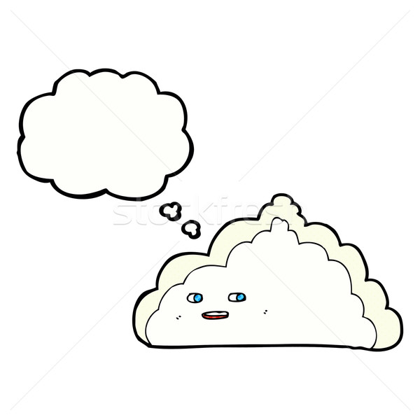 cartoon cloud with thought bubble Stock photo © lineartestpilot