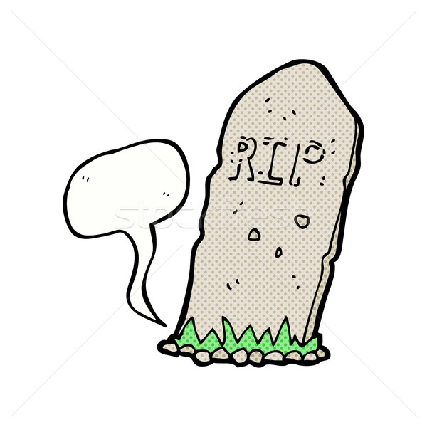 cartoon spooky grave with speech bubble Stock photo © lineartestpilot