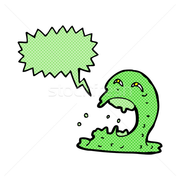cartoon gross ghost with speech bubble Stock photo © lineartestpilot