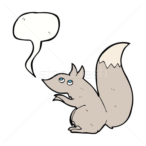 Rajz mókus szövegbuborék kéz terv őrült Stock fotó © lineartestpilot