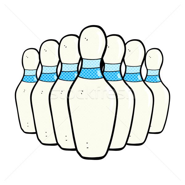 comic cartoon bowling pins Stock photo © lineartestpilot