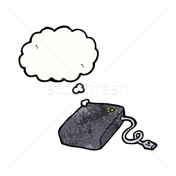 hard drive cartoon Stock photo © lineartestpilot