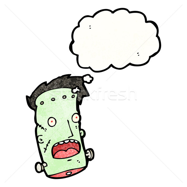 frankenstein head cartoon Stock photo © lineartestpilot