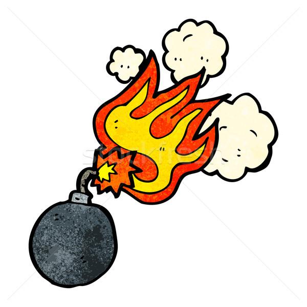 Desenho animado bomba retro desenho bonitinho ilustração Foto stock © lineartestpilot